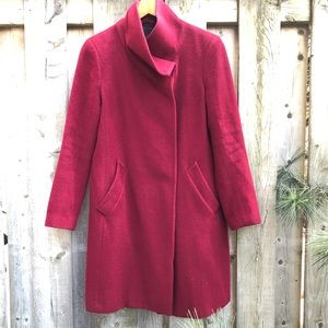 Hilary Radley Red Wool Coat